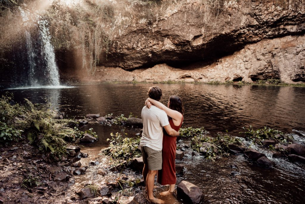 Killen Falls near Byron Bay Engagement Session