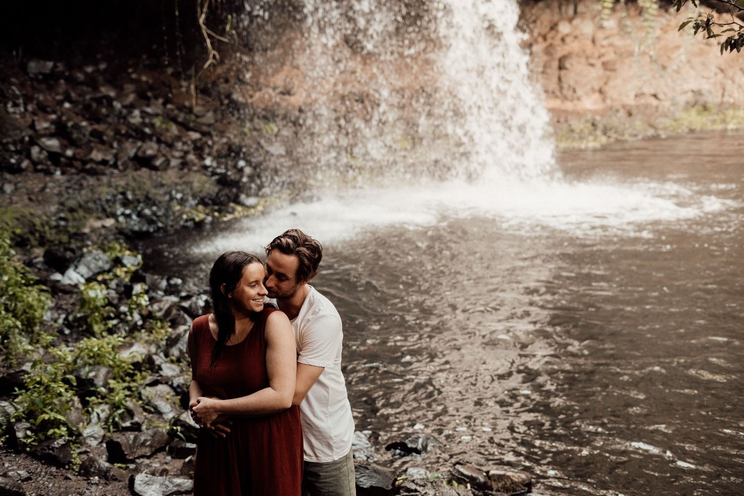 Adventurous Engagement Session at Killen Falls, Byron Bay
