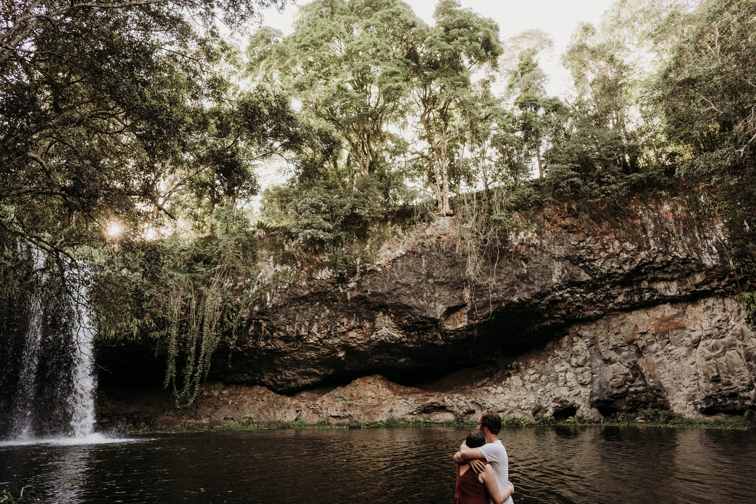 Engagement session near Killen Falls waterfall Byron Bay