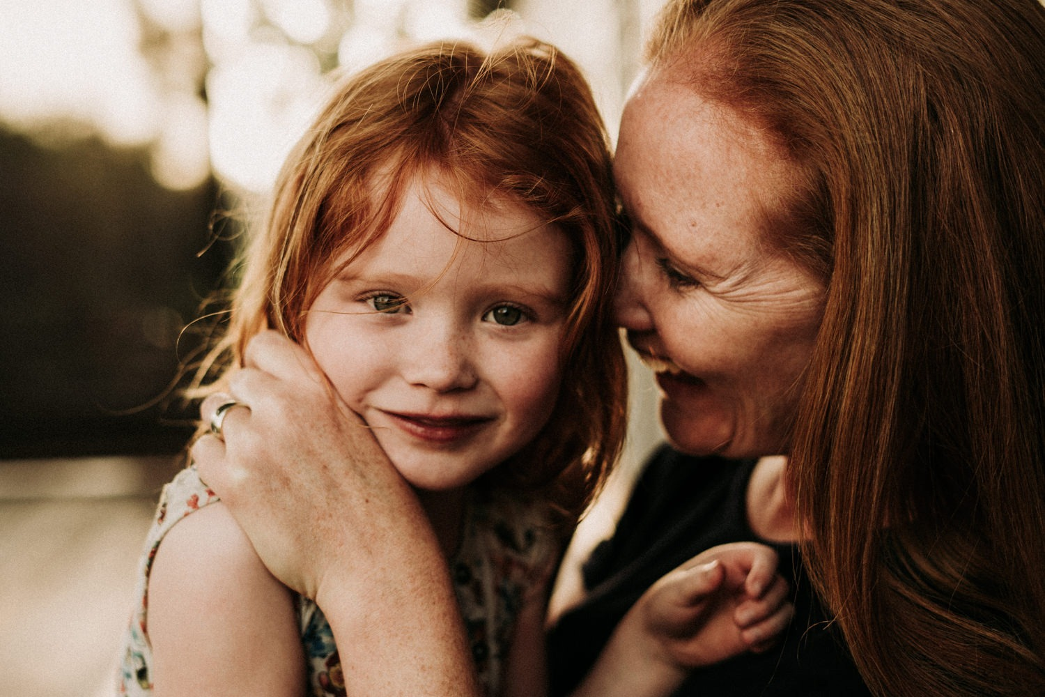 Beautiful mother and daughter portrait in their Byron Bay family home