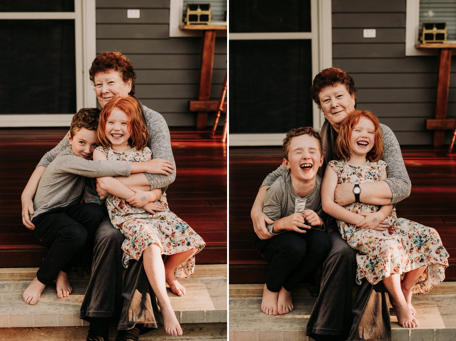 Candid family portraits in Byron Bay home